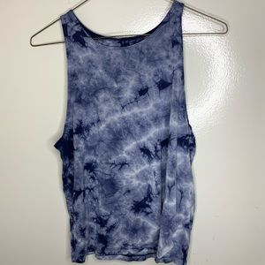 American eagle soft and sexy blue tie-die tank top